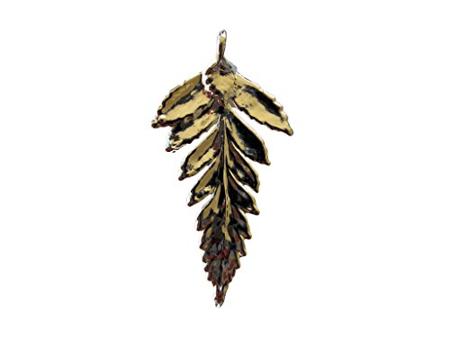 Fern Leaf Pendant - Edel-Heid Silver Dipped Real Fern Leaf Pendant, Silver Plated Fern Leaf Necklace, Made in USA