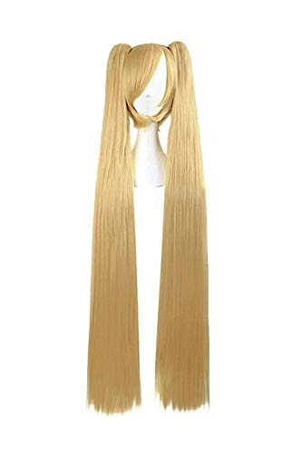 MapofBeauty Blonde Ponytails Party Costume 47Inch 120cm