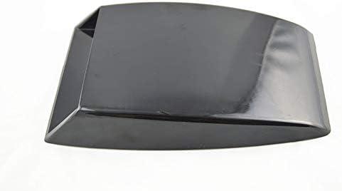 ! Black Universal Car Decorative Air Flow Intake Scoop Turbo Bonnet Vent Cover Hood Decorate (White)