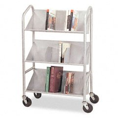 Sloped Shelf Cart,w/6 Dividers/3-Shelves,26 quot;x16 quot;x41-1/2 quot;,SR by Buddy Products Products