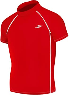 New Boys & Girls Youth 090 Red Compression Skin Tight Short Shirt