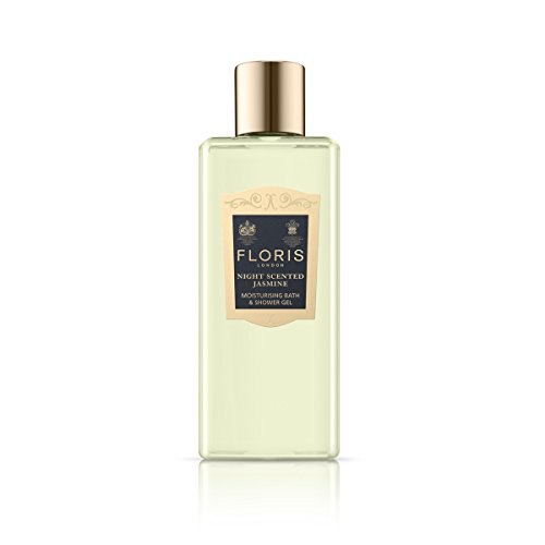 Floris London Night Scented Jasmine Moisturising Bath & Shower Gel, 8.4 fl. oz. (Feminine Gel Eau De Toilette)