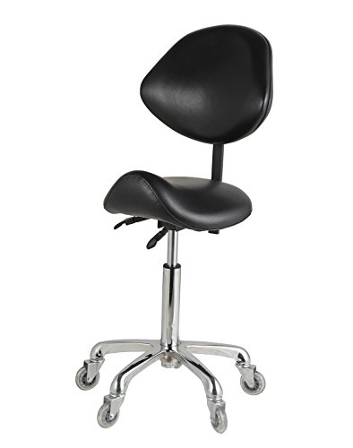 AiMS Rolling Saddle Stool Hydraulic Tall 22 29 Inches Adjustable For  Medical Lab Dental Salon
