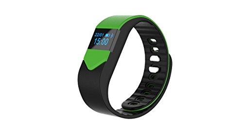 Motion Bracelet Waterproof Bluetooth Intelligent Men and Women Sleep Monitor Pedometer Watch , green black by GJX