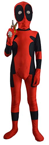 Marvoll Childrens Deadpool Costumes Halloween Kids Cosplay Costumes (Large (Height 51