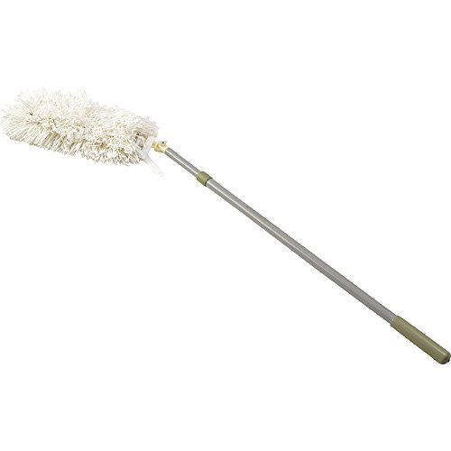 Rubbermaid Commercial Hiduster Plus Antimicrobial Angled Overhead Duster, Round, White
