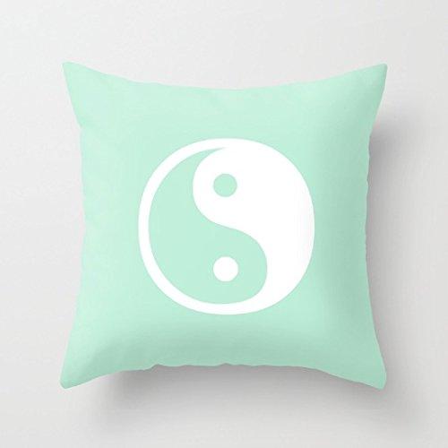 dgyeune lienzo armonía Yin Yang verde menta cubiertas ...