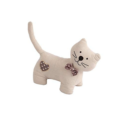 (Decorative Door Stopper by Morgan Home – Available in Many Animals and Styles – Measures Approx. 11 x 5.5 x 5.5 Inches (White Cat))