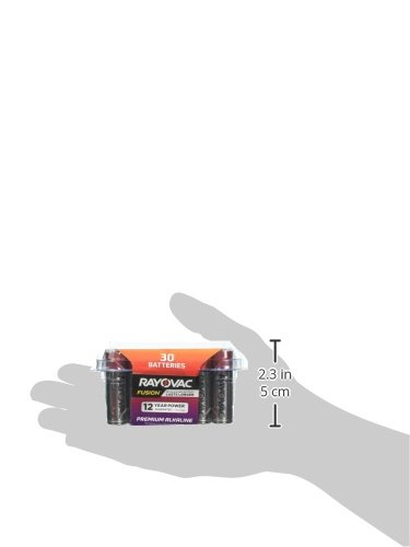Rayovac Fusion AA Batteries, Premium Alkaline Double A Batteries, 30 Count