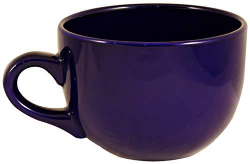 ITI Ceramic Seattle Latte Coffee Mugs with Pan Scraper, 24 Ounce (2-Pack, Cobalt Blue) ()