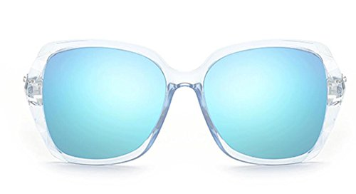 Beach Face Lady De Lunettes Msnhmu Biker Big Colorfulblue Party Fashion Soleil 8RFSpwq