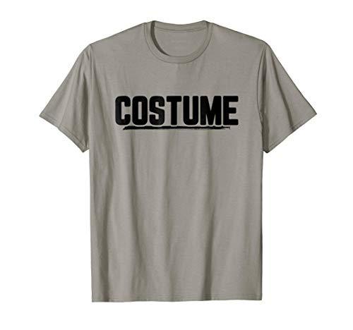 Mens Halloween T-Shirt That Says Costume Easiest Last Min Tee XL Slate -