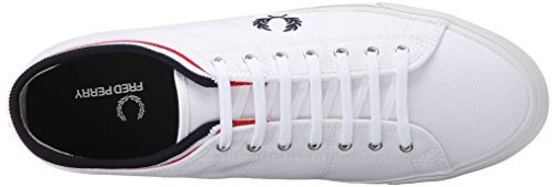Fred Perry Woman Sneaker Kendrick Tipped Canvas White/Navy blanco