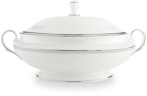 - Lenox Pearl Platinum Covered Vegetable Bowl with Lid
