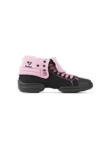 Rumpf 2Star Sneaker Zapato de Ballet Zapatillas en lienzo zapatos de cordones negro / rosa