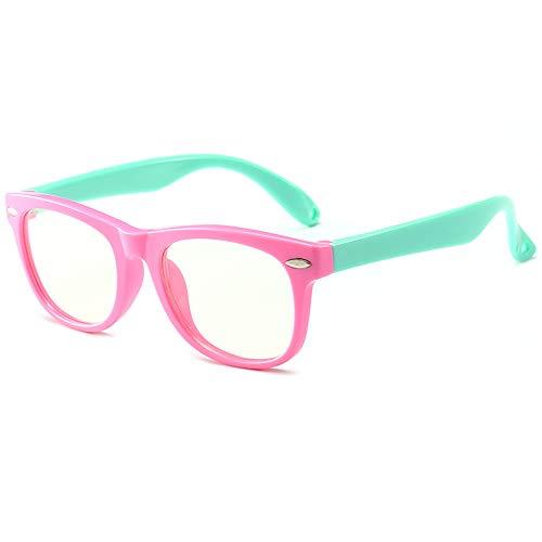 Kids Computer Glasses Video Gaming Glasses Blue Light Blocking Glasses for Children Anti Eyestrain UV Computer Eyewear