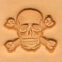Tandy Leather 3D Skull and Crossbones Stamp 8547-00 (Skull Stamp)