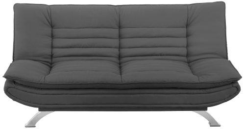 AC-Design-Furniture-47395-Schlafsofa-Jasper-Bezug-Stoff-dunkelgrau-Fe-Metall-verchromt-Liegeflche-ca-196-x-123-cm