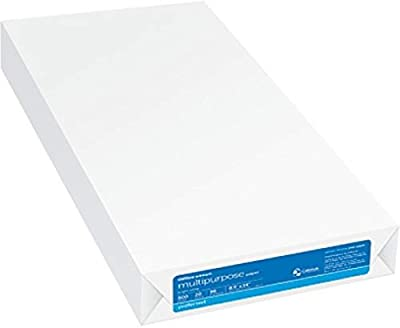 Office Depot Legal Size Multipurpose Paper, 8 1/2 x 14 Inch, 96 High Brightness, 20 Lb Density, SFI Certified, Made in USA, Ream Of 500 Sheets (304500)