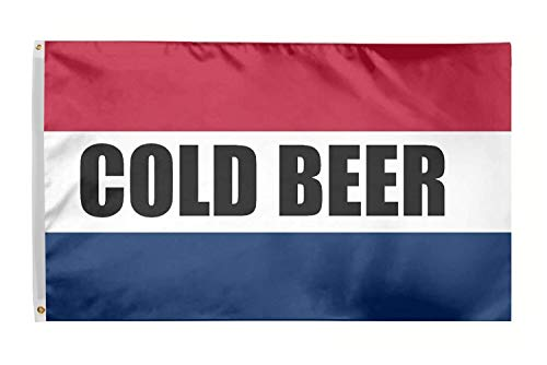Time Roaming 3x5 Ft Cold Beer Flag Polyester Flag with Brass Grommets