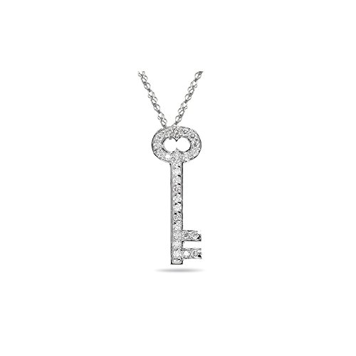 Cts Diamond Key Pendant - 5