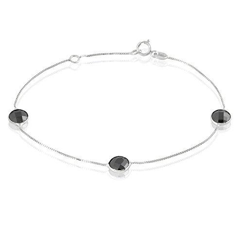 HISTOIRE D'OR - Bracelet Or et Oxyde - Femme - Or blanc 375/1000
