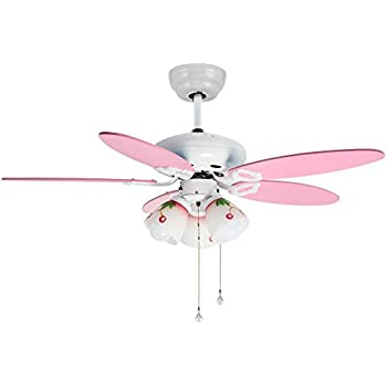 Craftmade bl52w bloom white kids 52 ceiling fan w light remote andersonlight 42 inch mute ceiling fan downrod for indoorbedroomliving room 5 blades 3 lights pull rope control cartoon for child white finish pink wooden aloadofball Image collections