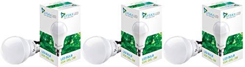 SYSKA 3 Watt LED Bulb (Cool Day Light) – Pack of 3