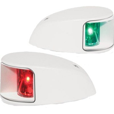 - HELLA 980620911 '0620 Series' NaviLED Multivolt 8-28V DC 2 NM Deck Mount Port and Starboard Navigation Light Kit with Clear Outer Lens and White Shroud