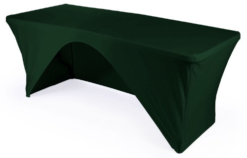 L.A. Linen Open Back Spandex Tablecloth for a 6-Foot Rect...
