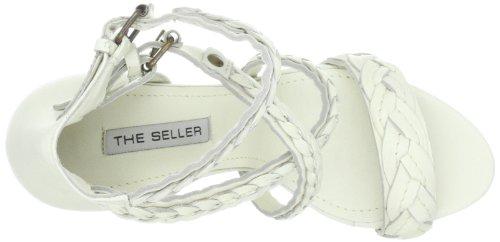 The Seller Alena S468 - Sandalias de vestir de cuero para mujer Blanco