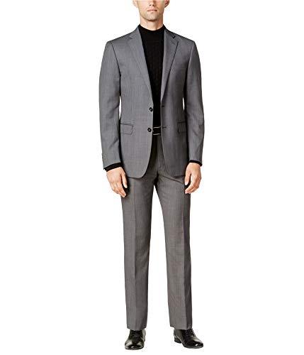 Calvin Klein Mens Textured Tuxedo Grey 42/Unfinished
