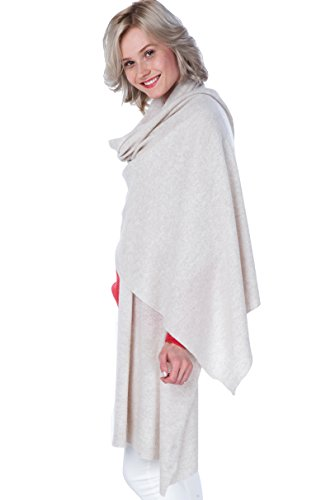 100% Cashmere Wrap Shawl Stole Extra Large Scarf -by cashmere 4 U by cashmere 4 U