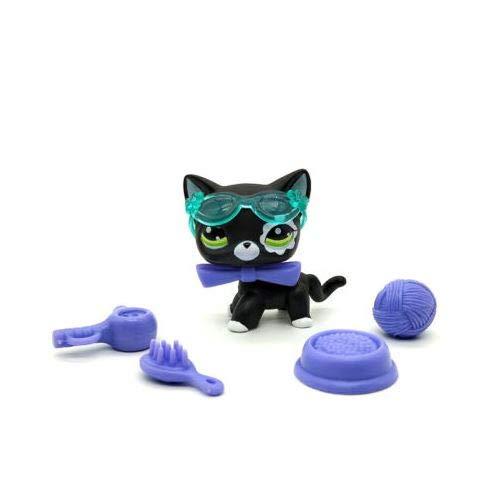 Littlest Pet Shop Collection LPS Shorthair White Black Kitty Cat 6/Accessories