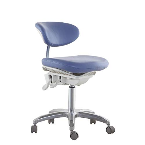 Global-Dental Chair Dynamic Stool with Pedal Base Multi-Function Adjustable Height PU ()