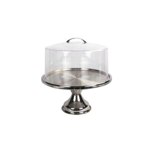 Winco 13inch Stainless Steel Cake Stand CKS-13, with Matching Acrylic Cover CKS-13C - Gift Set by Winco