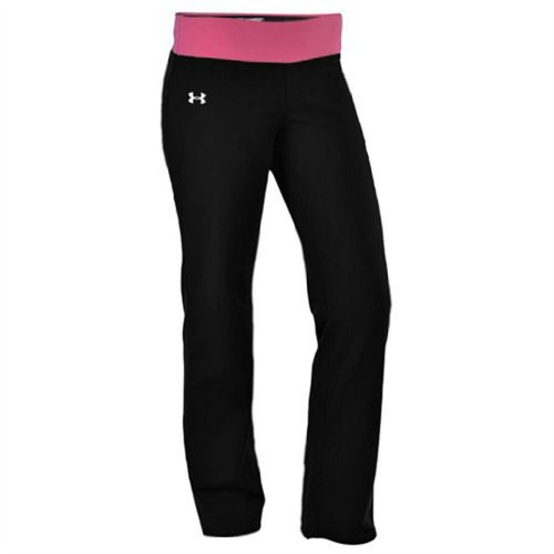 Under Armour Women's UA DFO Semi-Fitted Yoga Pant-Black/ Hot - Dfo Shop