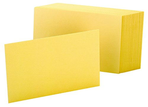 - Oxford Blank Color Index Cards, 4