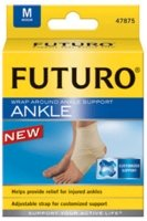 Futuro Wrap Around - Futuro Ankle Around Support Wrap # 47875, Medium/ pack, 2 pack