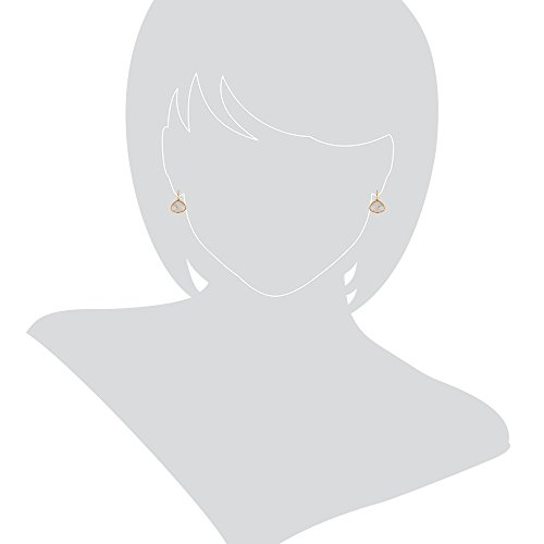 Gioiello Italiano–Boucles d'oreilles en or jaune avec quartz rutilé