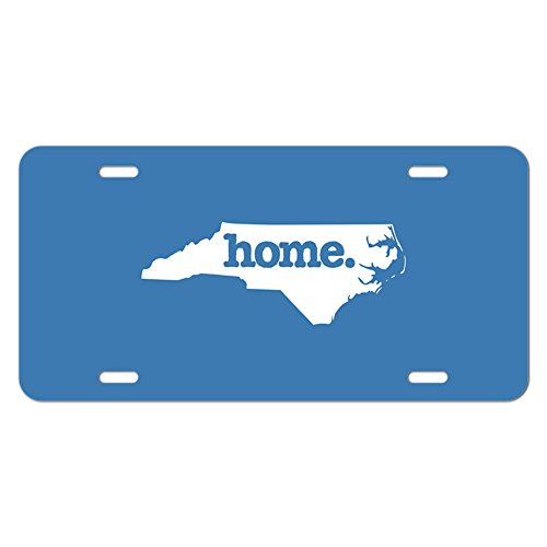- Graphics and More North Carolina NC Home State Novelty Metal Vanity License Tag Plate - Solid Denim Blue