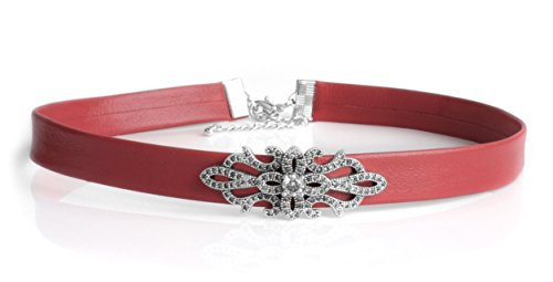 Necklace Choker Swarovski Genuine Leather Silver Find Your Size CéK NC3317 (15 Inches) by Cloisonnekorea (Image #5)
