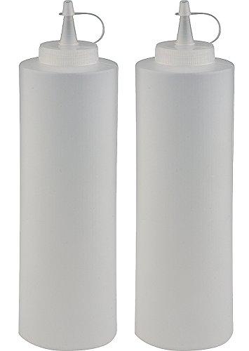 2 x Squeeze Flasche / Majoflasche / Dosierflasche / Marinadenflasche / Quetschflasche Ø 7 cm | 0,7 Liter (1,77 € / Stück)