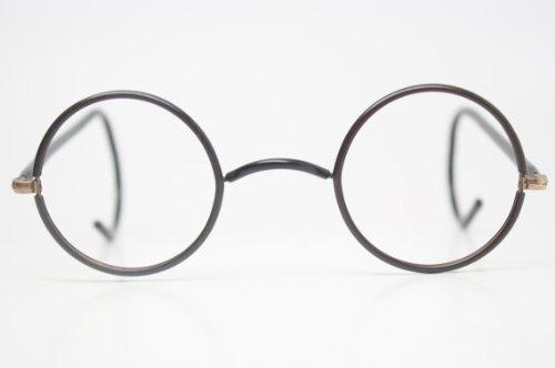 antique eyeglasses black gold zyl windsor glasses new old stock round glasses vintage eyeglass frames - Zyl Frames