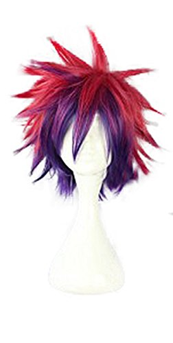 Mtxc No Game No Life Cosplay Sora Wig Red Mixed Purple