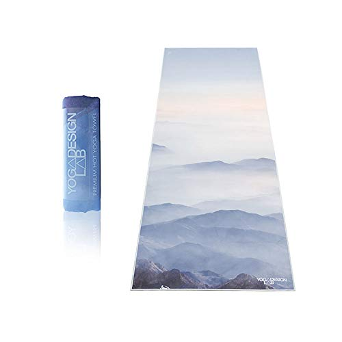 Yoga Design Lab   Toalla de Yoga   Suave y Acolchada   Antideslizante   Absorbente   Hecho de Microfibra de Botellas recicladas   Diseñada con tintas ...