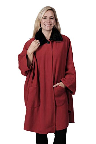 (Fleece Cape (One Size, RED))