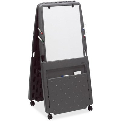 Iceberg 30237 Presentation Flipchart Easel With Dry Erase Surface, Resin, 33x28x73, Charcoal