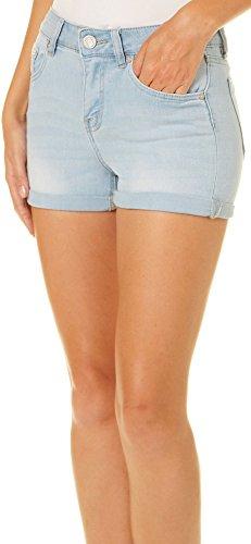 Indigo Rein Juniors Roll Cuff Denim Shorts 13 Kiera Light Denim Blue ()