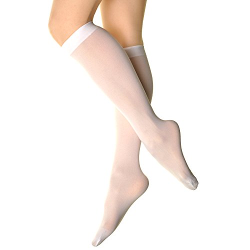 Angelina 70D Opaque Knee High Trouser Socks (Pack of 6 Pairs), White One size fits most